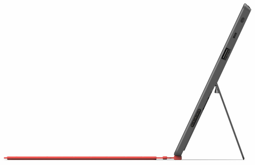 Microsoft's official imagery of the Surface tablet from the side