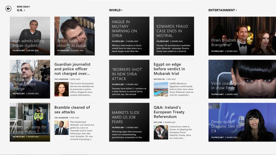 Windows 8 Metro News App