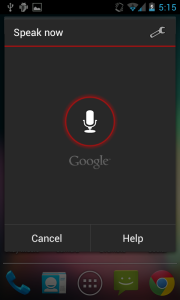 Voice Search Screenshot