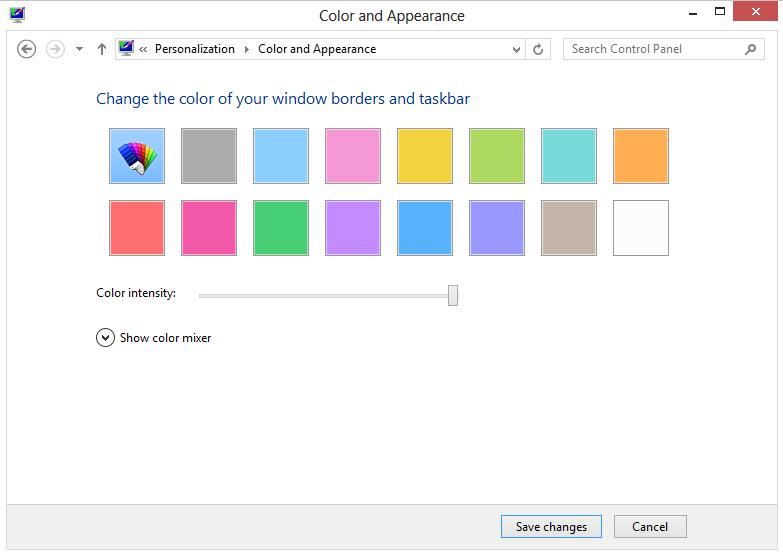 Windows 8 Desktop customisation options