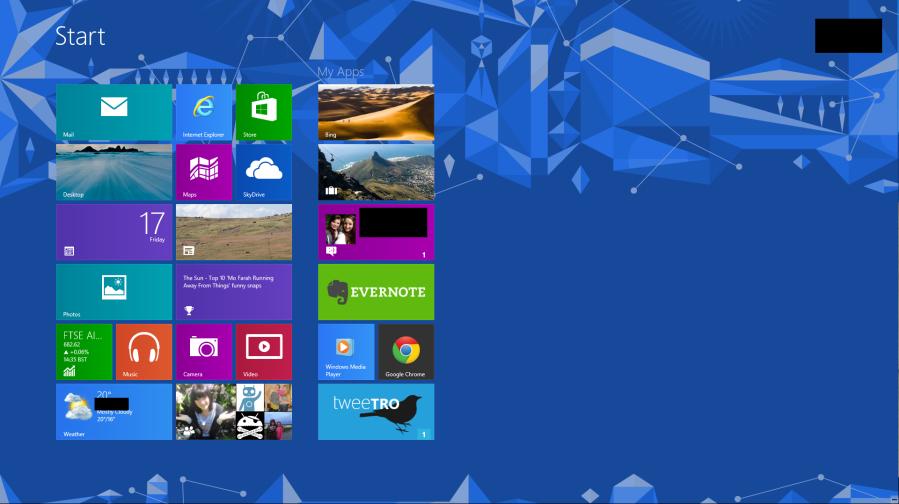 The New Metro Start Screen